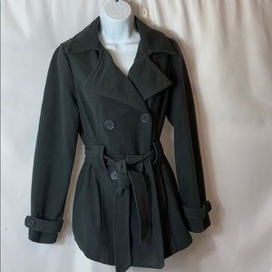 B1  JOU JOU DOUBLE BREASTED PEA TRENCH JACKET